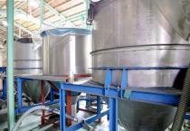 チップ貯蔵タンク工程